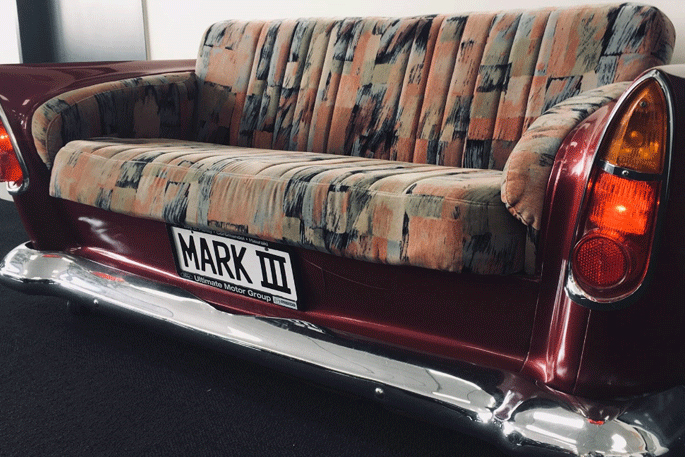 Groovy Newsie Half Car Half Couch Goes Up For Auction The Bralicious Painted Fabric Chair Ideas Braliciousco