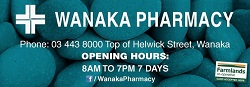 Wanaka Pharmacy |  Open late 365 days a year